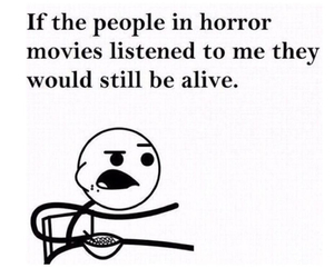 funny, horror, and movies image