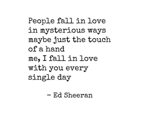 Lyrics, quotes, and ed sheeran image