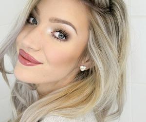 beautiful, big lips, and blue eyes image