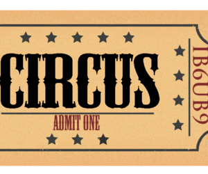 circus and ticket image