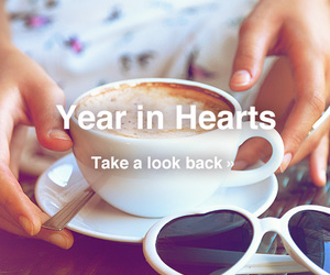 cafe, coffee, and hearts image