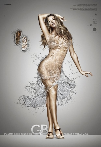 water, dress, and model image