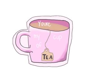 tea, transparent, and pink image