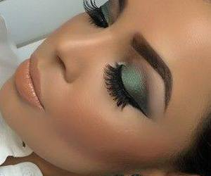 eyes, eyeshadow, and lips image