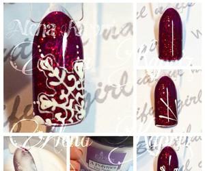 nails, nailspolish, and nailsart image