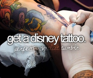 quote, tattoo, and disney image
