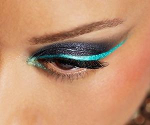 black, eye, and eyelash image