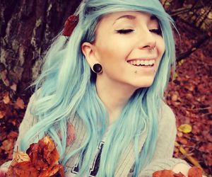 blue hair, scene girl, and shawna mchighway image