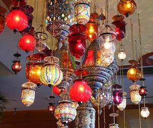 boho, lamp, and lantern image