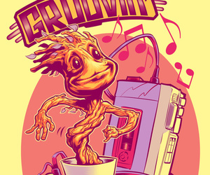 groot, galaxy, and Marvel image