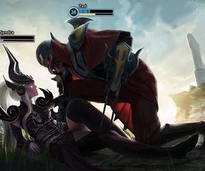 zed, league of legends, and syndra image