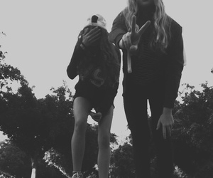 friends, blackandwhite, and girl image