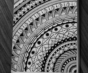 amazing, black and white, and mandala image