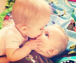 baby, kiss, and cute image