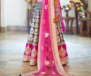 beautiful, indian, and pink image