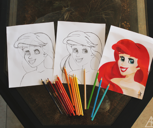 ariel, colorful, and disney image