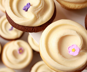 candy, cream, and cupcakes image