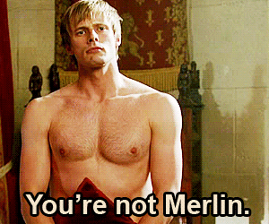 bbc, funny, and merlin image
