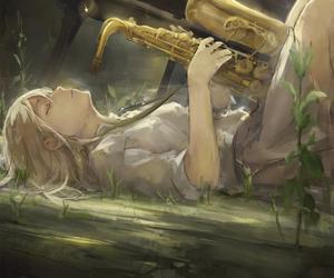 anime, music, and art image