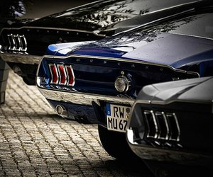 car, mustang, and ford mustang image