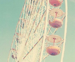 colorful, vintage, and ferriswheel image