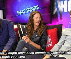 funny, kaya, and the maze runner cast image