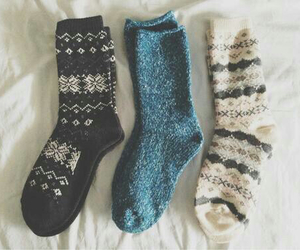 cold, snow, and socks image