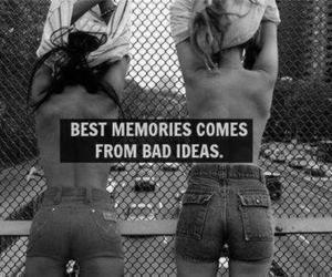black and white, friends, and memories image