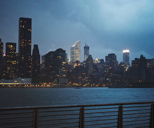 city, night, and landscape image