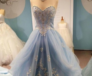 dress, blue, and cinderella image