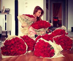 expensive, flowers, and red image