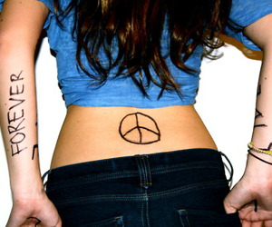 back, pants, and peace image