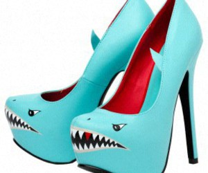 shark, heels, and shoes image