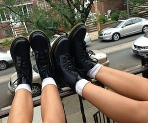 grunge, shoes, and black image
