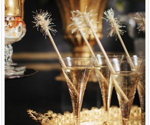champagne, drink, and new year image