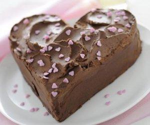 heart, chocolate, and cake image