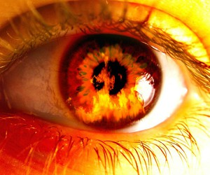 fire, eye, and eyes image