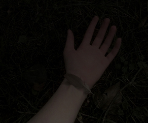 dark, feather, and hand image