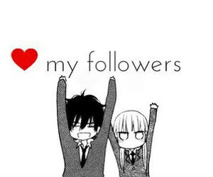 love, anime, and followers image