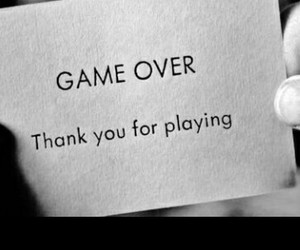 game over and thanks for playing image