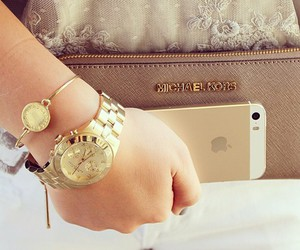 fashion, gold, and iphone image