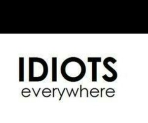 idiots and idiots everywhere image