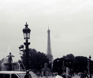 black white, eiffeltower, and paris image