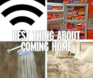 home, food, and bed image