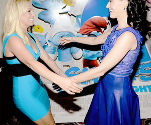 britney spears, katy perry, and smurfs image