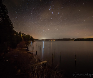 dock, night time, and star image
