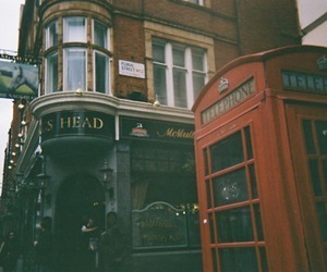 london, telephone, and vintage image