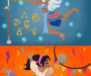 disney, esmeralda, and kida image