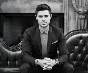 zac efron, boy, and black and white image