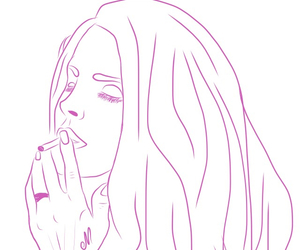 outline and lana del rey image